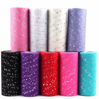 10cm 25 Yards Glitter Tulle Roll Sequin Organza Mesh DIY Wedding Party Supplies