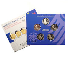 5 x 2 Euro Gedenkmünze Deutschland 2018 Helmut Schmidt Spiegelglanz / PP