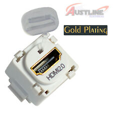 HDMI 2.0 /1.4 Gold Plated Insert /Jack /Mech Suits CLIPSAL Wall Plate