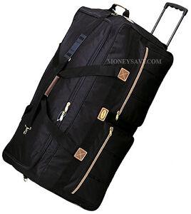 "30"" Polyester Rolling Duffle Bag Wheeled Travel Luggage Suitcase"