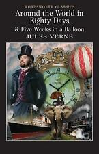 Around the World in 80 Days / Five Weeks in a Balloon by Jules Verne (Paperback,