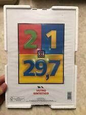 4 Pezzi CORNICE Per QUADRI A GIORNO 21X30 Con Vetro Sintetico Moderno Uffico