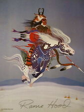 Rance Hood Signed Poster - Comanche Antelope Warrior