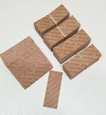 120 Coin Wrappers FLAT Tubular Paper Rolls for QUARTERS (Each roll holds $ 10)