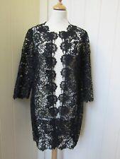 JACQUES VERT black lace coat/jacket - UK12