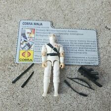 Vintage GI Joe Figure 1984 Storm Shadow (White!!) complete with file card