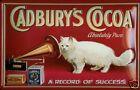 Cadburys Cacao CAT Letrero De Metal 3d EN RELIEVE Arqueado CARTEL LATA 20 x 30