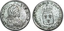 LOUIS XV  1/6 ECU DE FRANCE 1720 9 RENNES
