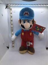 "New 12"" Super Nintendo Blue Hat Red Suit Ice Mario Soft Plush Toy"