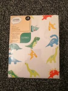 *BNWT* Dinosaur Fitted Sheet Cotbed, Junior Bed & Toddler Bed