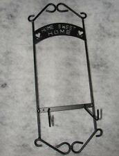 Hang On Wall Metal Home Sweet Home Plate Holder ~ Holds One Plate