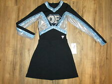 "Girls Cheerleader Uniform Outfit Varsity Shimmer 30"" Top Black 22"" Skirt Youth"