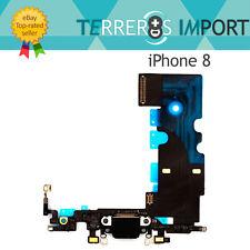 Flex Carga Conector Lightning Microfono para iPhone 8 Negro