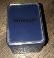 VINTAGE WRANGLER HERO Leather Band Wrist WATCH  Men's. Needs Battery. See Pics!