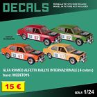 DECALS repro Alfa Romeo Alfetta Rallye Internazionale Mebetoys 1/25 1 25 24