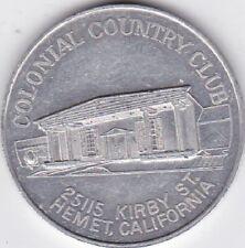 Hemet CA Colonial Country Club All Adult Park advertising medal LOOK