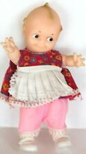 """Vintage Cameo 8-1/2"""" Rubber Kewpie Squeaker Doll Jointed ~ Great Condition"""