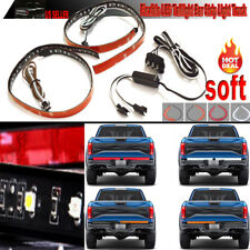 2X 20 inch DRL Turn signal light Led Strip Tailgate Bar Brake Reverse SUV Truck