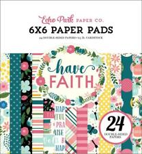 Echo Park HAVE FAITH  6x6 Paper Pad 24pc Family Love Prayer Scrapbook Planner