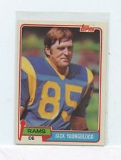 JACK YOUNGBLOOD 1981 Topps  Los Angeles Rams #205