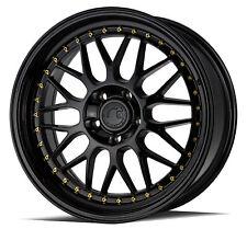 18x8.5 F/ 18x9.5R AodHan AH02 5x114.3 +35F / +30R Gloss Black Rims (New Set)