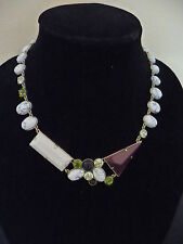 NWT LULU FROST FOR J.CREW GEOMETRIC SHAPES NECKLACE, $235