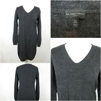 The White Company Charcoal Grey Wool Cashmere Fine Knit Jumper Dress Size 12