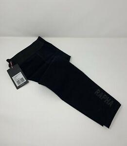 RAPHA Pro Team Shadow Softshell Leg Warmers Black Size Medium New