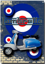 LAMBRETTA SCOOTER HIGH GLOSS FINISH METAL SIGN,MODS AND ROCKERS,