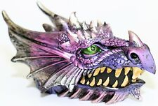 Purple Dragon's Head Trinket & Keepsake Box Jewellery Holder Fantasy *