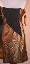 Tory Burch gold and black dress, size 4, NEW WITH TAGS!!