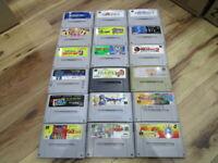 Super Famicom Gamecartridge Lot of 18 Piece Bomberman. FF SNES SFC Japan B666