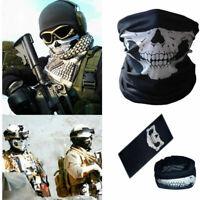 2PC Skull Hood Face Mask Ghost Biker Motorcycle Ski Balaclava CS Sport Helmet