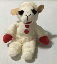 "Lamb Chop Plush Stuffie Aurora World Red Mittens Beanie 9"" 2010"