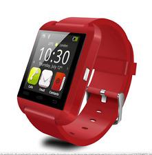 Smart watch android dispositivos multi-lengua Reloj inteligente de color ROJO