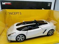 Lamborghini concept s white 1/18 mondo motors 50039