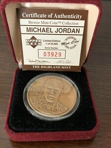 Michael Jordan Highland Mint Medallion Limited Edition Bronze Coin #3929 / 25000