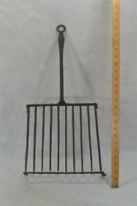 fireplace cooker toaster trivet grill hand forged iron 18th 19th c antique vg
