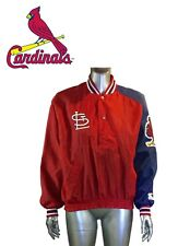 Vintage St Louis Cardinals Starter Jacket Mens XL Nylon Red MLB Baseball
