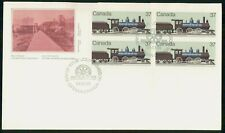 Canada Fdc 1984 Block of Locomotives Train First Day Cover Wwh85983