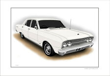 FORD  67'   ZA  FAIRLANE  500  289 V8    LIMITED EDITION CAR PRINT  DRAWING