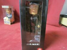 """PAWN STAR THE OLD MA BOBBLE HEAD DOLL BOX 7"""" TALL GOLD AND SILVER"""