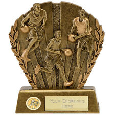 A1664A RESIN  BASKETBALL TROPHY SIZE 9.25CM  FREE ENGRAVING