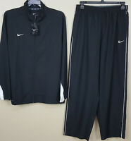 NIKE DRI-FIT WOVEN TRAINING TRACK SUIT JACKET + PANTS BLACK RARE NEW (SIZE XL)