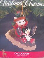 Vintage Christmas Charmers Ornament Santas Best Cool Capers Bear Penguin 1st Ed.