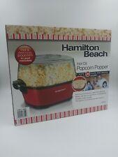 Hamilton Beach Hot Oil Popcorn Popper Pops 24 Cups