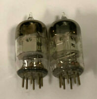 One PAIR SYLVANIA 5654 Vintage Audio Tubes Made in USA - Tests NOS Strength!
