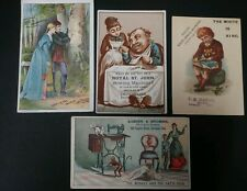 4 Antique Sewing Machine Advertising Trade Cards