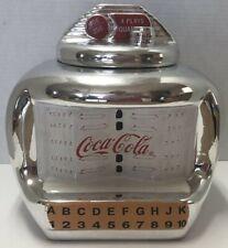The Coca Cola Company Gibson Shiny Silver Tone Juke Box Cookie Jar