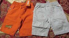 NWT Gymboree Set of 2 Helicopter Orange & Khaki long PANTS Infant boy 0-3 mo